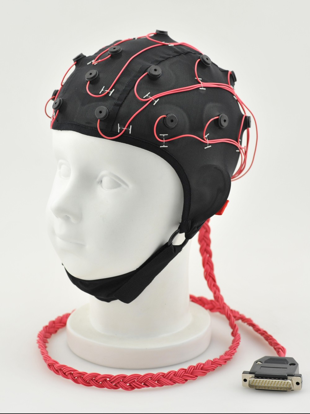 医疗脑电图帽斜侧面图