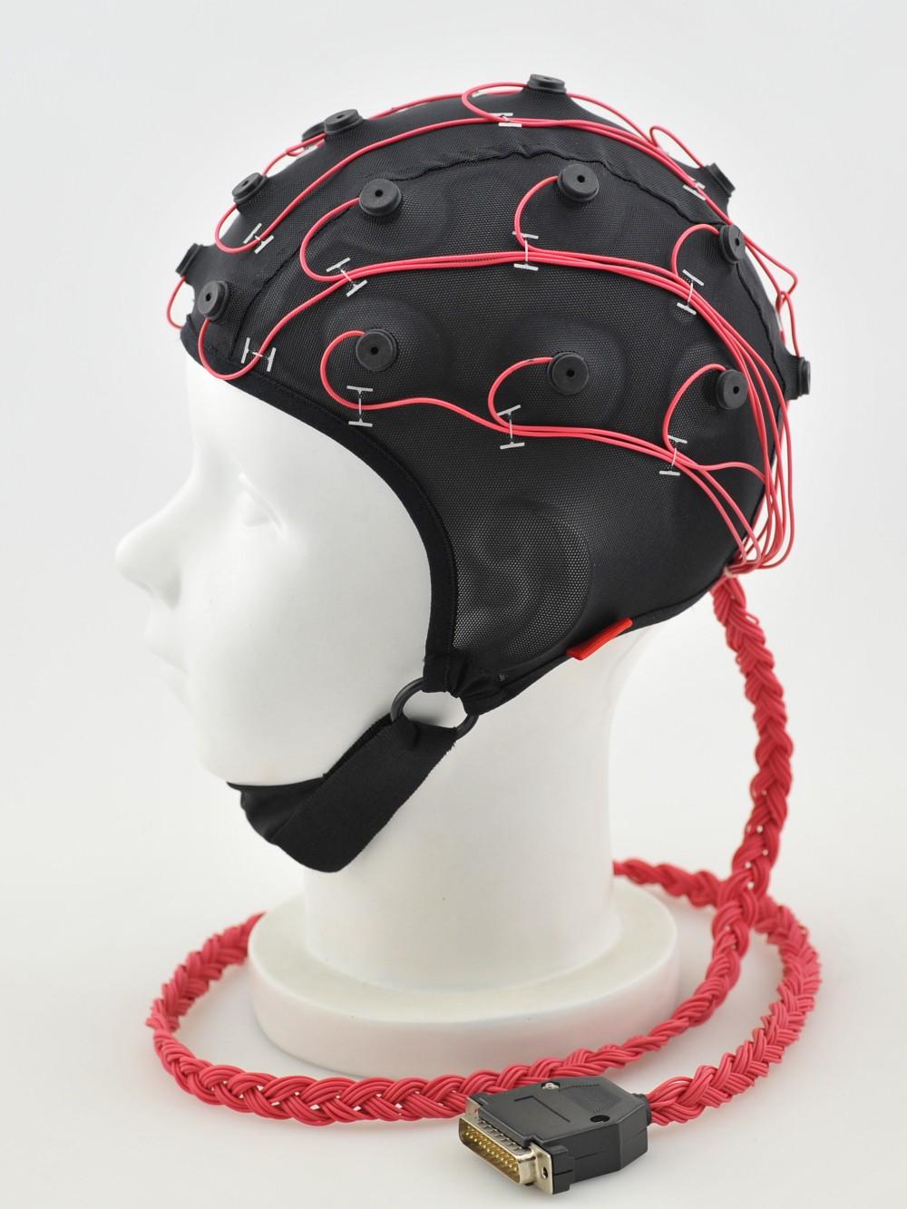 医疗脑电帽侧面图