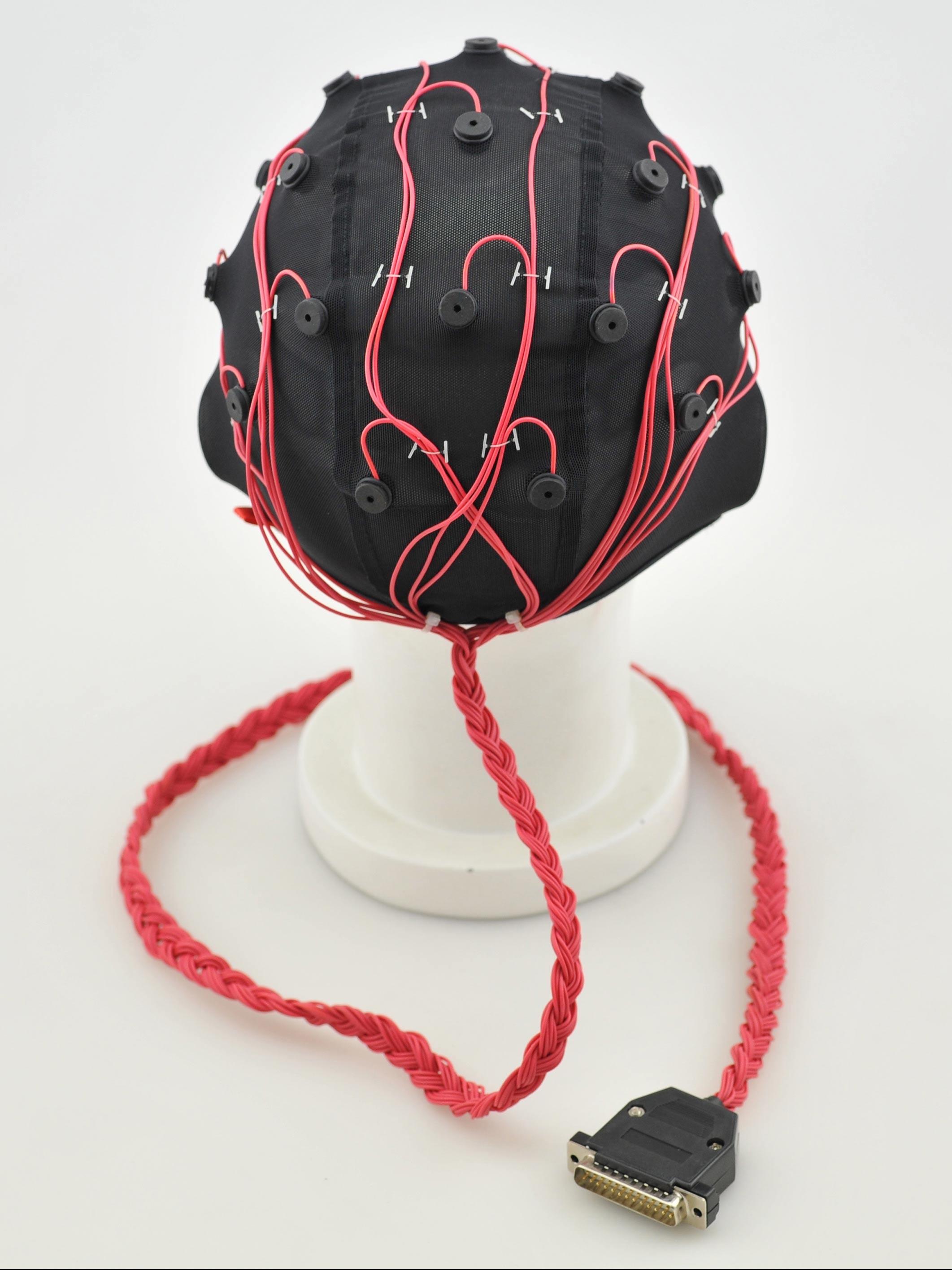医疗脑电帽背面图