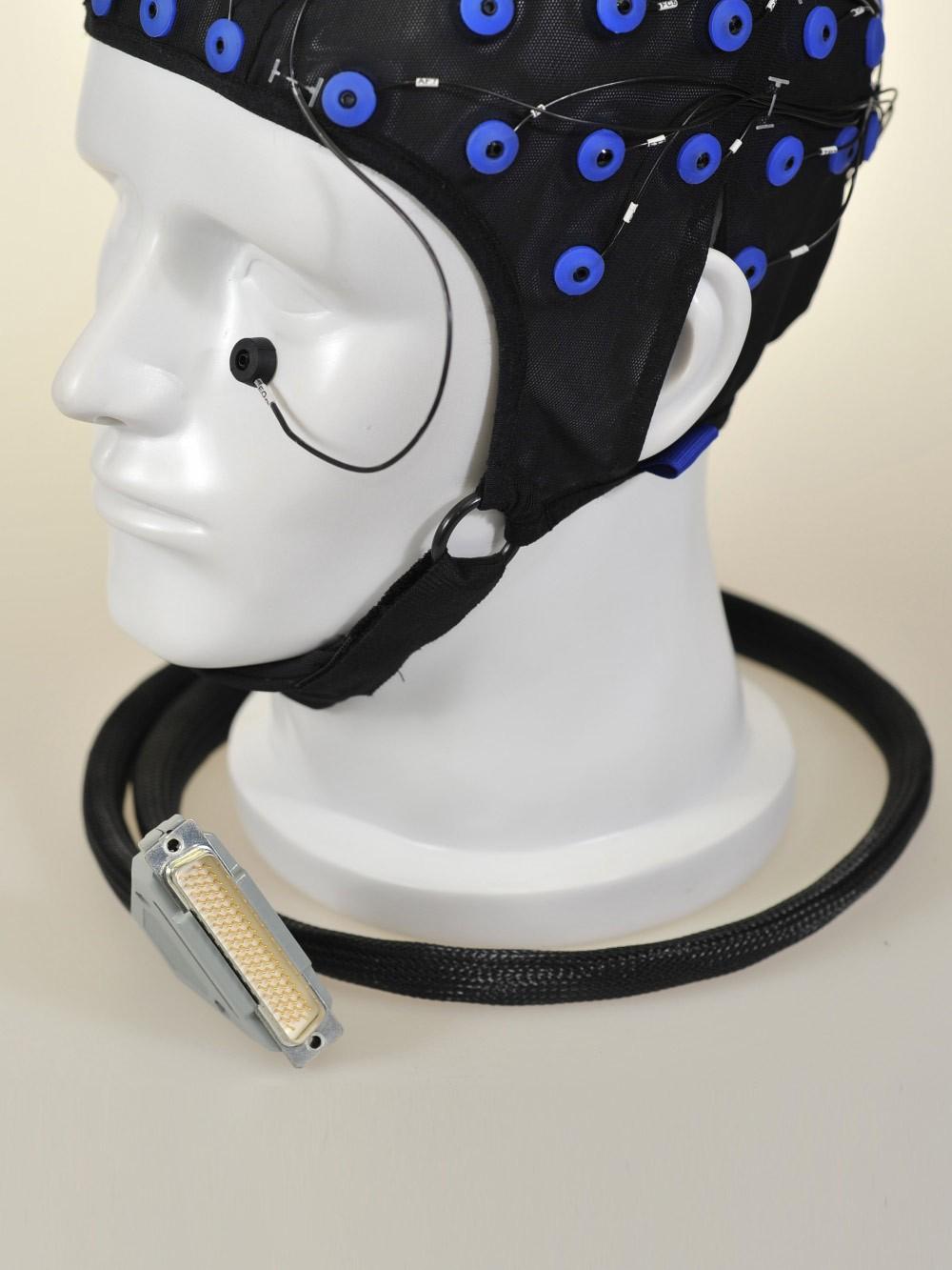 长程脑电图帽斜侧面细节图